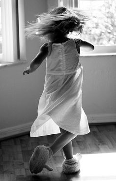 Remember this carefree feeling as a child? Where does this feeling go when we grow up? Why don't we wear our favorite slippers and twirl just because we are happy? This picture, to me, captures the innocence of childhood.