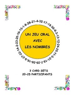 French Numbers Game - Le cercle magique (3 card sets)