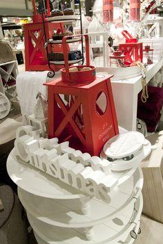 Rood en witte kerst accessoires van Riverdale.