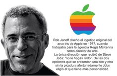 #‎Logotipos‬ famosos y sus creadores Steve Jobs, The Beatles, Insight, Branding, Logos, Movie Posters, Apple, Famous Logos, Art Director