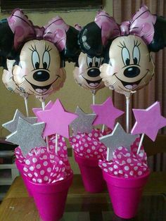 Centros de mesa minnie | minnie and mickey mouse | Pinterest