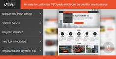 Quiven - Creative PSD Template by bestwebsoft