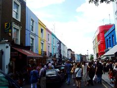 Portobello Market, London; what a great time I had here- full of beautiful food and cool old stuff!