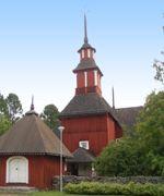 Keuruun vanha kirkko- 1756-59. Antti Antinpoika  Hakola.