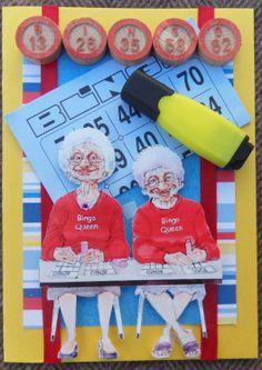 Bingo queen scrapcard - bingo scrapkaart