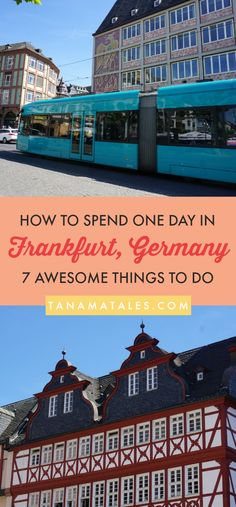 One day in #Frankfurt Am Main, #Germany – 7 Phenomenal Things to do, see and eat – If you happen to be traveling around Frankfurt or have a layover in the city, these 7 ideas will help you to make the most of your time in the city. You will love the cultural, gastronomic and shopping options in the city.