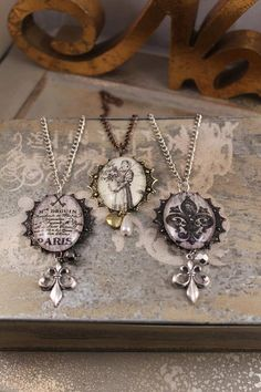 Glass Pendant necklaces by HaveFaithDesigns on Etsy