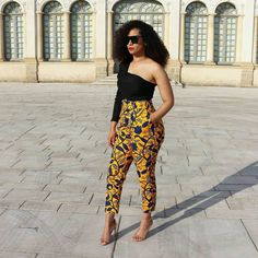 Ankara pants and trousers styles. Latest African Fashion Dresses, African Inspired Fashion, African Print Fashion, Ankara Fashion, African Attire, African Wear, African Dress, African Outfits, African Print Pants