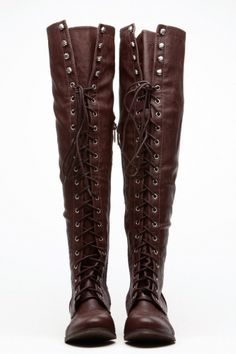 Breckelles Brown Military Lace Up Boot