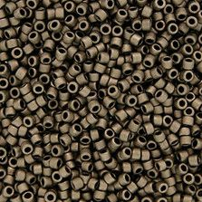Size 11 Matte Metallic Bronze Delica Beads - DB0322