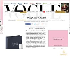 Ligne St Barth in the German Press: Vogue Online - featuring our Deep Sea Cream www.LigneStBarth.com