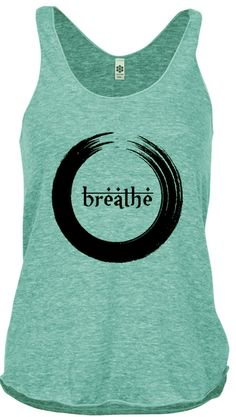 Breathe Tank Top. Peace. Relax. Meditating. Yoga Women. Eco Friendly. Yoga Clothes. American Apparel shirt tank ( 5 Colors Available) on Etsy, $19.99