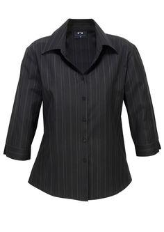 Code: BCLB2725 Name: Ladies New Yorker 3/4 Sleeve Shirt BCLB2725 Size: 10 | 16 | 18 | 24 | 6 | 8 | 12 | 14 | 22 | 20 Available Colours: Black/White Description: