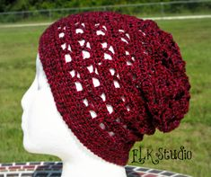 Just to be Cute Slouchy Beanie - Free crochet pattern by ELK Studio. There's now a scarf to match here:  http://www.elkstudiohandcraftedcrochetdesigns.com/2014/09/05/just-to-be-cute-free-crochet-scarf/