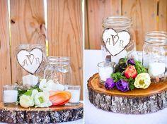 table arrangements. love this idea for center pieces