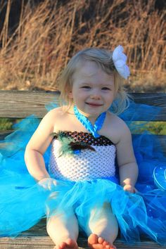 Blue and White Feather tutu Dress by pocketfulofposiesbou on Etsy, $35.00    visit our etsy shop and put in code: pinningfor10 and recieve 10% off your order.