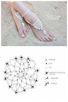Free Barefoot Sandals Crochet Pattern | DIY Tag