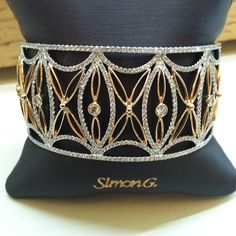 This Simon G (BT109) cuff is a real show stopper. Shop Simon G. at www.svsfinejewelry.com or in store 3323 Long Beach Rd. Oceanside, NY 11572