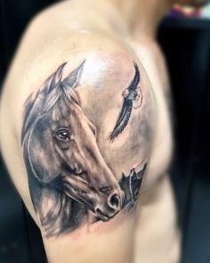 tattoo cavallo by Head Tattoos, Forearm Tattoos, Love Tattoos, Horse Tattoo Design, Tattoo Designs, Ghost Rider Tattoo, Cowgirl Tattoos, Wildlife Tattoo, Horse Sketch