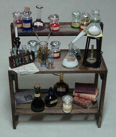dollhouse miniature apothecary table