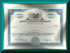 AETNA FINANCE COMPANY - Less than 100 shares.