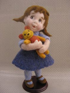 """Needle Felted Penny (from """"The Rescuers"""") Barb Soet"""