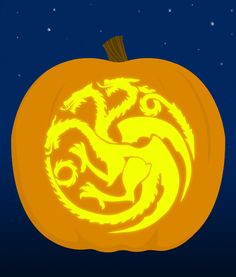 16. The Targaryen Family Crest - submitted by Alice Brumfield | 18 Insanely Clever Pop Culture Stencils To Up Your Pumpkin Carving Game