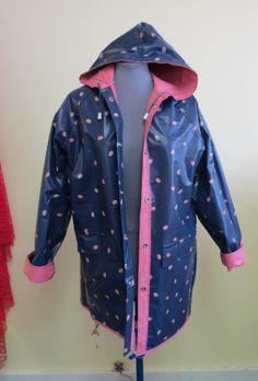 Womens Vintage 80 S Pink Pvc Rain Coat Raincoat Rain