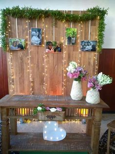 Brendinha in 2019 Backdrop Decorations, Decoration Table, Birthday Decorations, Backdrops, Wedding Decorations, Wedding Table Deco, Deco Table, Rustic Wedding, 50th Wedding Anniversary