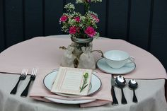 Blush Table Runner for Weddings and Events