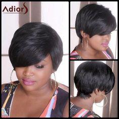 Adiors Short Straight Fluffy Synthetic Wig