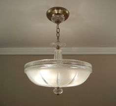 Vintage Art Deco Chandelier 1930's Antique by VintageGlassLights