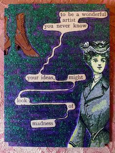 """""""To be a wonderful artist you never know your ideas, might look of madness Book Art, Book Page Art, Poetry Unit, Writing Poetry, Poema Visual, Found Poem, Book Quotes, Poetry Quotes, Quotes Quotes"""