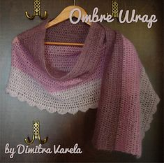 Ombre Wrap - Free crochet pattern by Dimitra Varela
