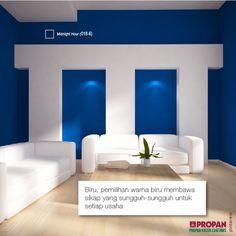 What the Color of Your Living Room Says About You #2  Biru, pemilihan warna biru membawa sikap yang sungguh-sungguh untuk setiap usaha, dan keyakinan yang kuat  dalam hal-hal yang kamu lakukan sebagai keberhasilan