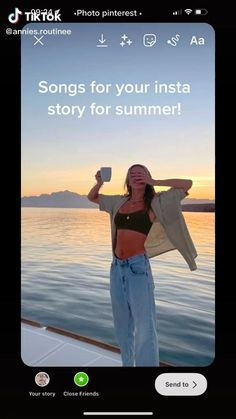 Dope Captions For Instagram, Instagram Editing Apps, Instagram Music, Instagram Story Filters, Instagram Story Ideas, Summer Story, Creative Instagram Photo Ideas, Good Vibe Songs, Insta Story
