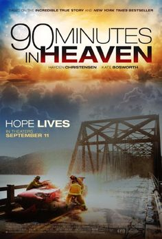 90 Minutes in Heaven Drama. Pronounced dead by rescue workers after a car accident, Texas pastor Don Piper (Hayden Christensen) believes that he visited heaven before springing back to life 90 minutes later. Hd Movies, Movies To Watch, Movies Online, Movie Tv, Romance Movies, Movies 2019, Heaven Movie, Heaven Book, Hayden Christensen