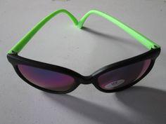 1 Fluro Sonnenbrille grün verspiegelt Stil Goa Nerdbrille Brille neu UV