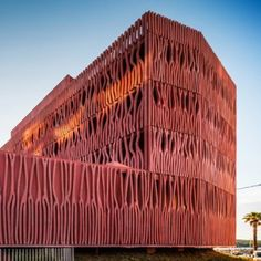 Student housing with a coral-inspired facade  by Atelier Fernandez  Serres, Eastern Pyrénées, France