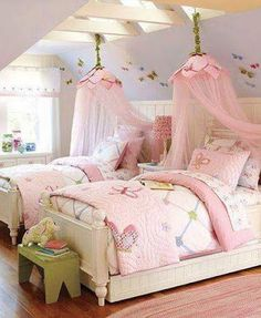 Decoracion Hogar - Comunidad - Google+ Girls Bedroom, Bedroom Decor, Bedroom Ideas, Room Girls, Garden Bedroom, Trendy Bedroom, Girls Shared Bedrooms, Childs Bedroom, Kid Bedrooms