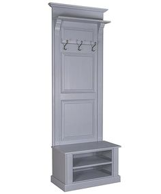 Hallway storage Narrow - Narrow French panelled hall stand with shoe storage.
