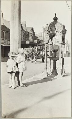 Drinking Fountain near Fort Street School, in Sydney, Australia .1924 v@e