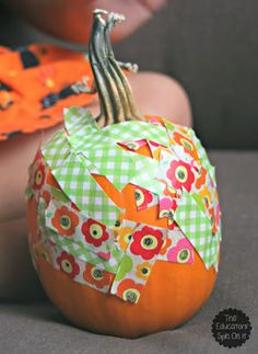 Pumpkin Fun with Washi Tape for Preschoolers & Tots