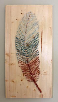 Feather String Art - Handmade