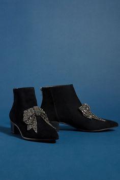 6286d56894f635 Farylrobin Alvis Bow-Embellished Ankle Boots