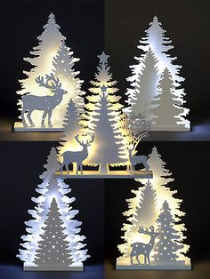 Wooden White Light Up Decorations Christmas LED Ornament Xmas Festive Tree Deer decorations christmas outdoor Christmas White Christmas Decorations & Trees for sale Easy Christmas Crafts, Outdoor Christmas, Christmas Projects, Simple Christmas, Christmas Lights, Christmas Christmas, Christmas Garden, Xmas Tree Lights, White Christmas Ornaments