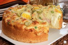 torta-portuguesa Vegetarian Cooking, Easy Cooking, Cooking Time, Cooking Recipes, Brazillian Food, Savory Cheesecake, Bakers Gonna Bake, Salty Cake, Dessert Dishes