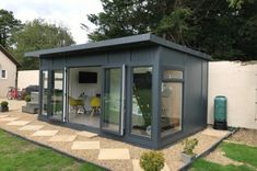 Combination wooden building case study- Wooden buildings that serve two purposes are easily possible at Bakers Timber Buildings. If you need a garden storage room and summerhouse, no problem! Summer House Garden, Hot Tub Garden, Home And Garden, Garden Office Uk, Garden Sheds Uk, Garden Cabins, Outdoor Garden Rooms, Backyard Patio, Pergola Garden