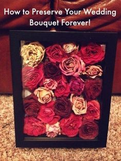 how to preserve your wedding bouquet #weddingjewelry