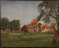 Georges Lemmen (1865-1916) - Case a Terhulpen - 1888 - Arp Museum Rolandseck Bahnhof (Germania), collezione Rau per l'UNICEF .